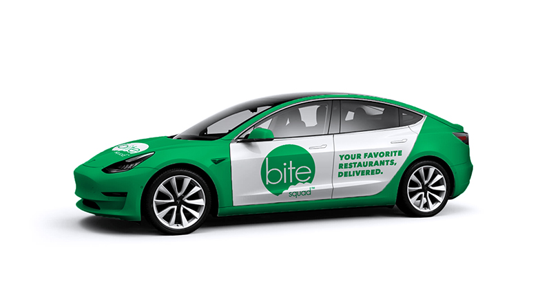 Bite Squad Plans Test of Tesla Model 3s for Delivery Fleet