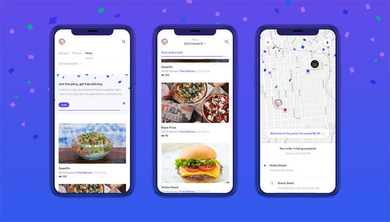 "Postmates Launches ""Party"" Delivery-Sharing"