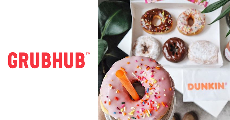 Dunkin' Grubhub Merger Splash