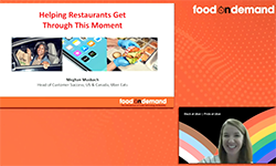 Food On Demand Conference 2020 Delivering a Customer Experience