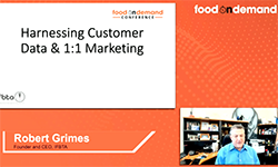 Food On Demand Conference 2020 Harnessing Customer Data and 1:1 Marketing