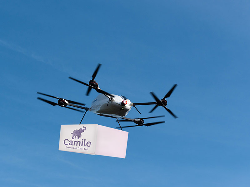 UK's Camile Thai Delivering by Drones in Ireland